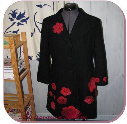 Manteau après customisation vu de face