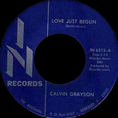 1966 : Calvin Grayson : Single SP In Records IN 6312 [ US ]