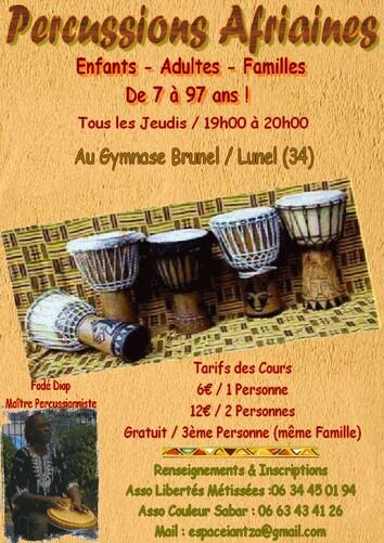 ★ Cours de percussions / Lunel (34)