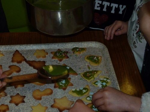 réalisations des biscuits de Noël