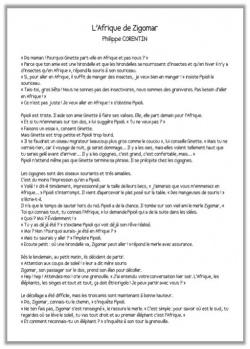 Tapuscrit Afrique Zigomar