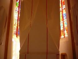 L'église de Catus en travaux