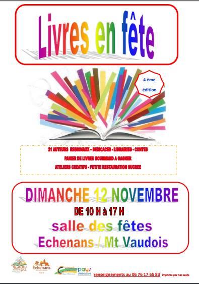 """A Echenans s/s Mt Vaudois : """"Livres en fête"""", 4ème !"""