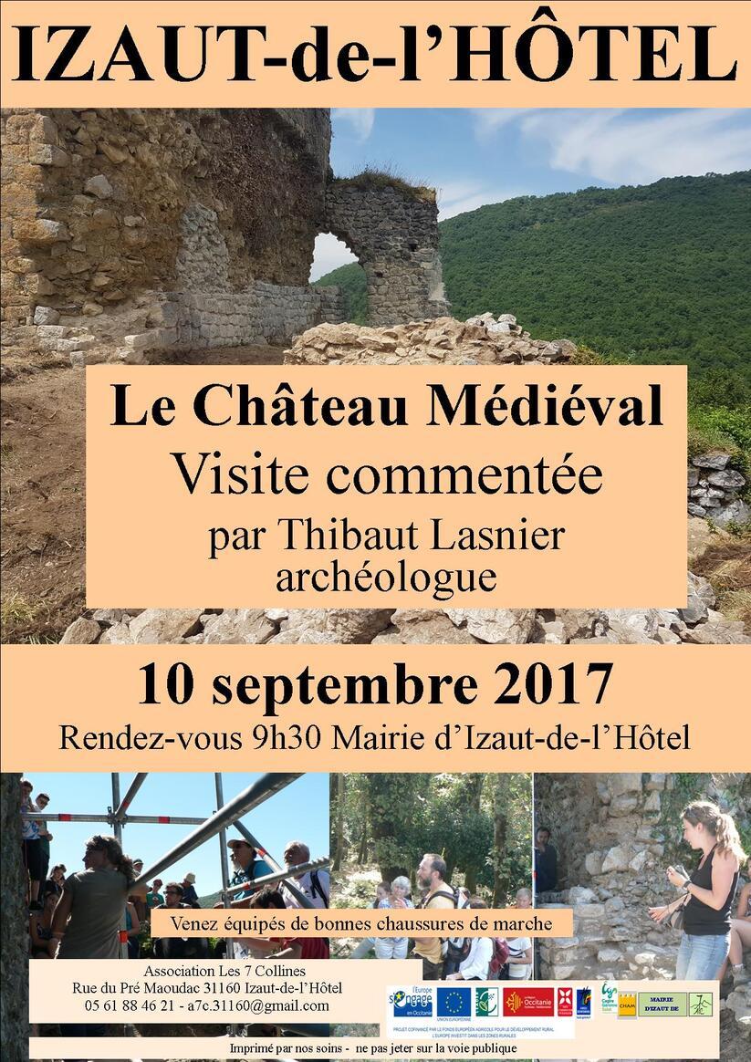 2017 : Visite commentée au château le 10 septembre 2017
