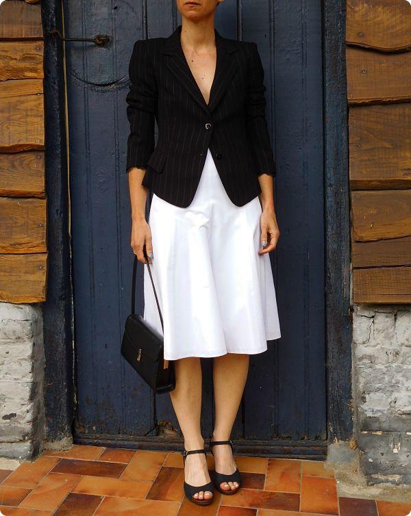 Robe blanche évasée #3