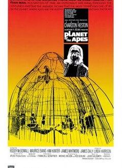 PLANETE DES SINGES AFFICHE US 1968