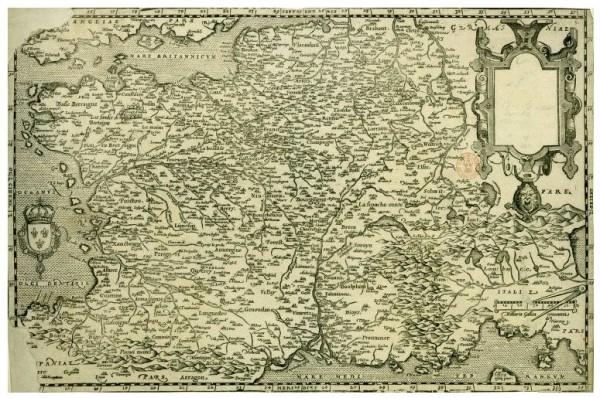 La France au XVIe siècle par Jean Jolivet cartographe.