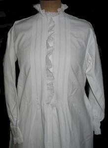 Chemise de nuit en finette blanche 1