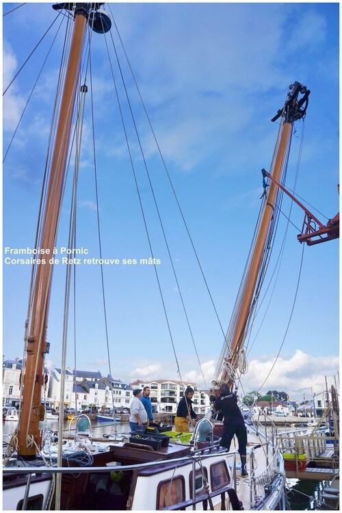"""Le """"Corsaires de Retz"""" a retrouvé une partie de ses mâts"""