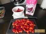 Verrine crousti fondante fraise & nutella
