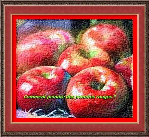 Dessin et peinture - vidéo 2898 : Une palette de couleurs pour quelques pommes rouges - aquarelle.