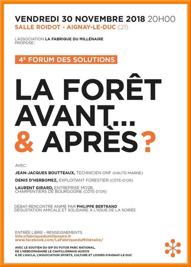 Le quatrième Forum du Millénaire aura lieu le30 novembre à Aignay le Duc