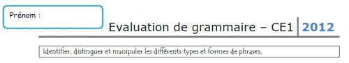 Evaluation de grammaire