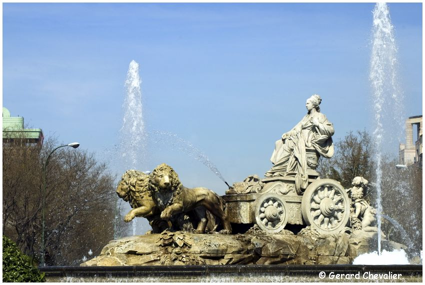 Madrid - Fontaine de Cibeles.