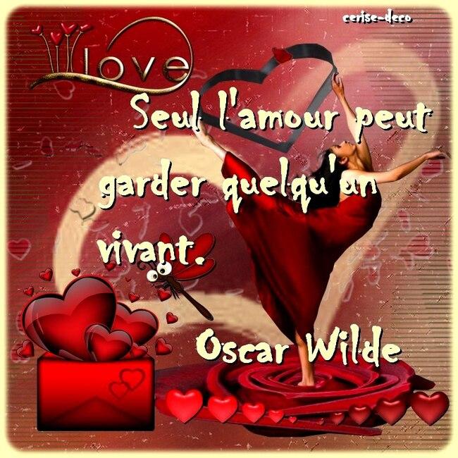 une citation illustrée sur l'amour