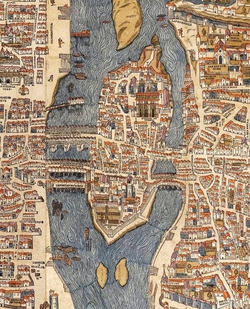 L'Île Saint-Louis (plan vers 1550)