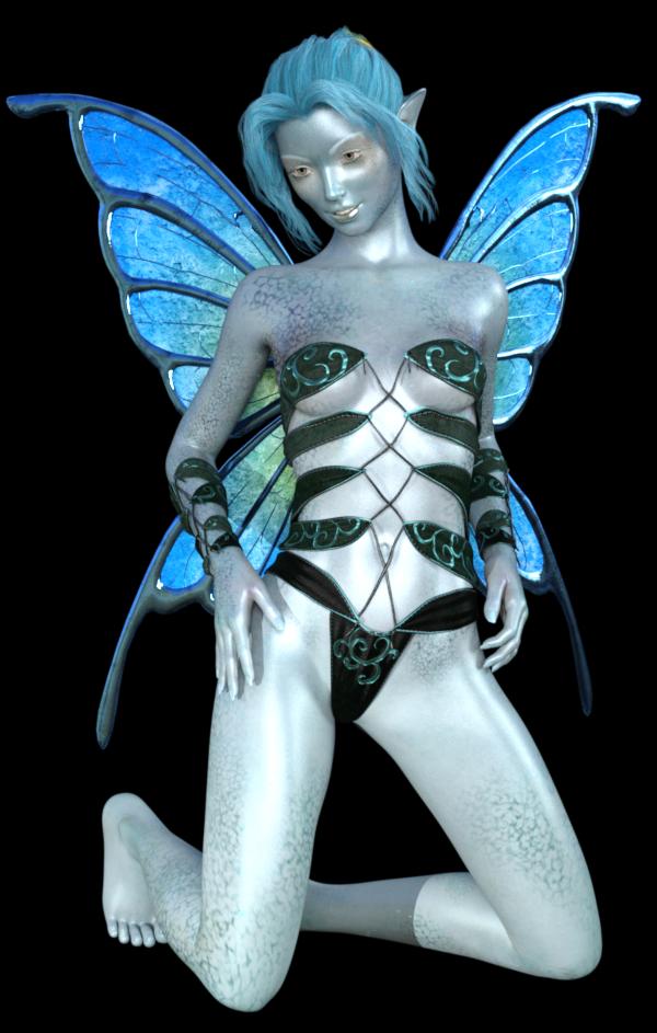 """Image de femme fée """"alien"""" (render)"""