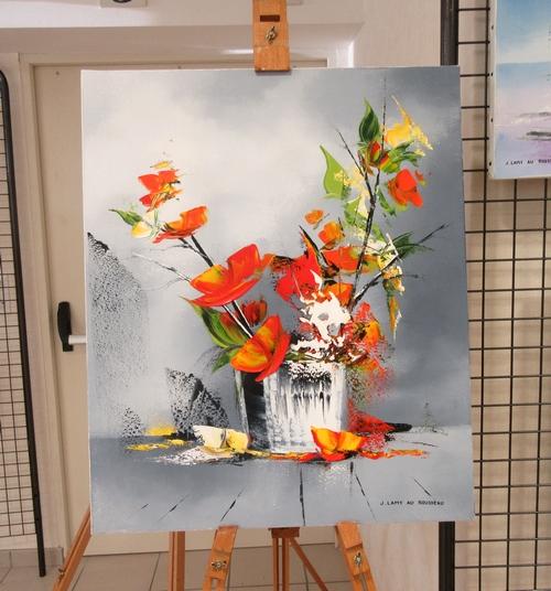 Les peintres de Sainte Colombe sur Seine ont présenté de superbes tableaux  lors de laur exposition de 2018...