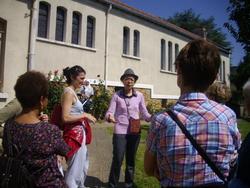 """Visite de l'association """"Rencontre de femmes"""" au jardin partagé du carmel"""