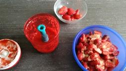 Pavlova aux fraises et fruit de la passion