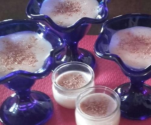 Mousse chocolat blanc et noix de coco magique -Thermomix