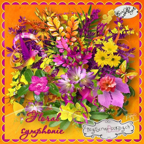 """""""Floral symphonie """" de Scrap'Angie"""