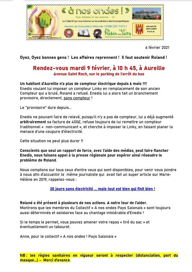 Aureille (13)  >>> le 9 février, il faut soutenir Roland!