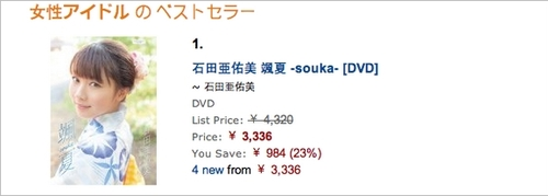 "Classement du DVD ""Souka"" de Ayumi!"