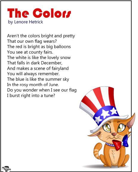 """Poem """"The Colors"""" - lecture de référence"""