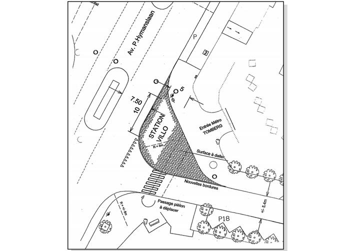 Wolu1200 : Bientôt une station Villo devant la station de métro Tomberg
