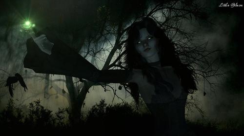 """MONTAGE PHOTO : Méliana, la méchante sorcière du """"Vortex des deux temps"""""""