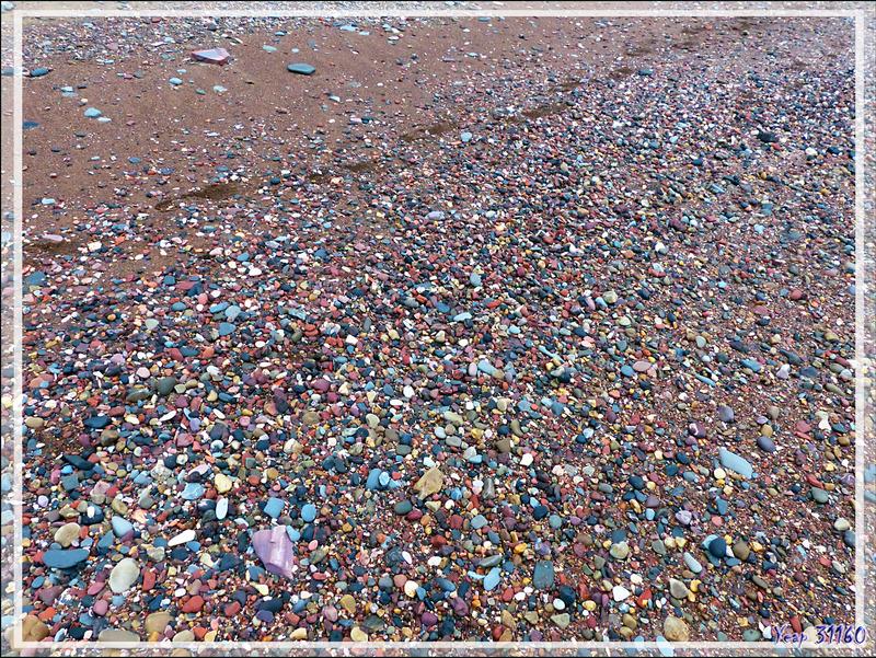 La plage colorée de Smoking Hills (Smoking Hills's colorful beach) - Cape Bathurst - Territoires du Nord-ouest - Canada