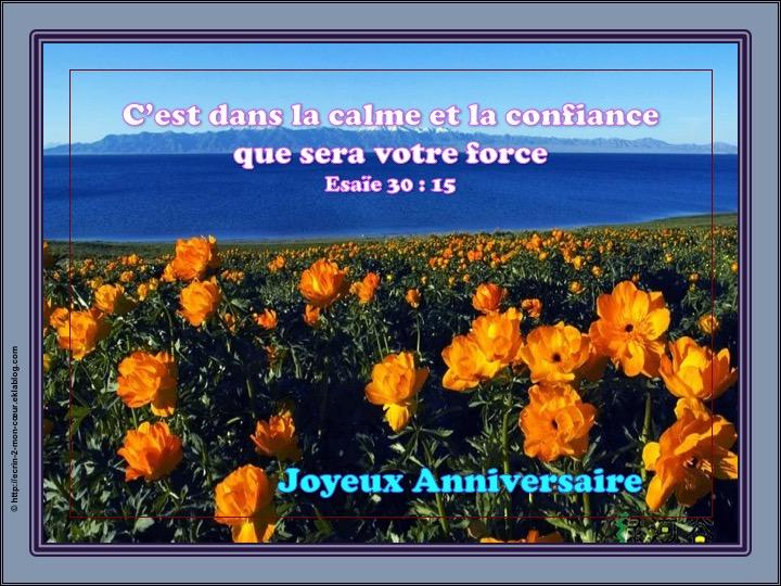 Joyeux Anniversaire - Esaïe 30 : 15