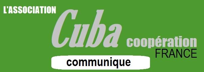 La lettre électronique de CUBA Coopération  - Les nouveautés depuis le 25 octobre 2018 -