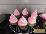 Cupcakes printaniers fraise pistache
