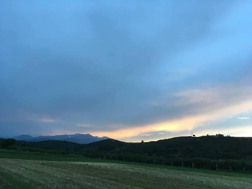 3e jour - coucher de soleil sur le Canigou