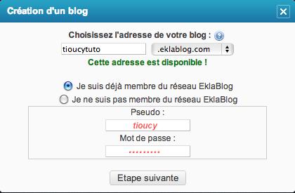 Tutoriel : Comment créer son blog sur EklaBlog?
