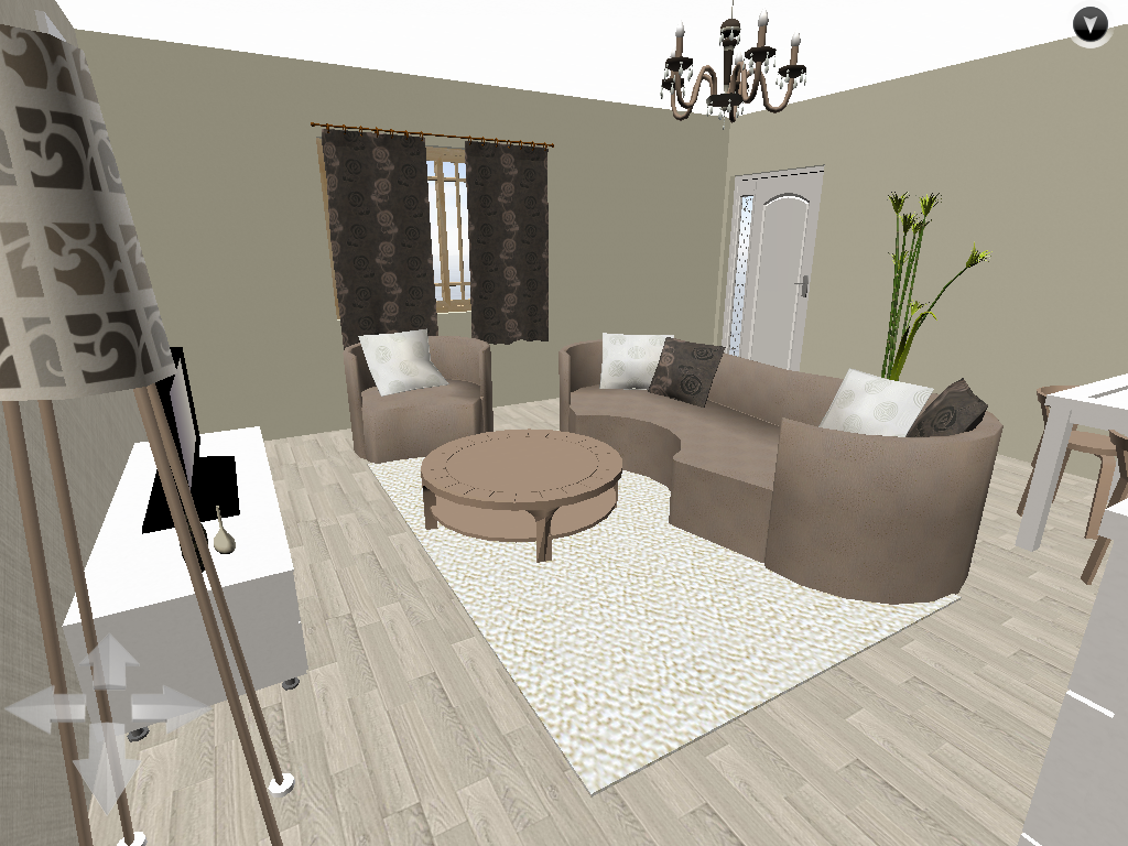 Salon blanc et taupe a idee deco salon beige taupe with - Salon taupe et beige ...
