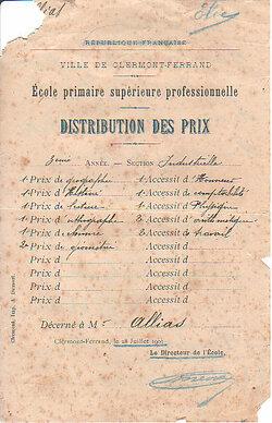 Elie Allias Prix 1901