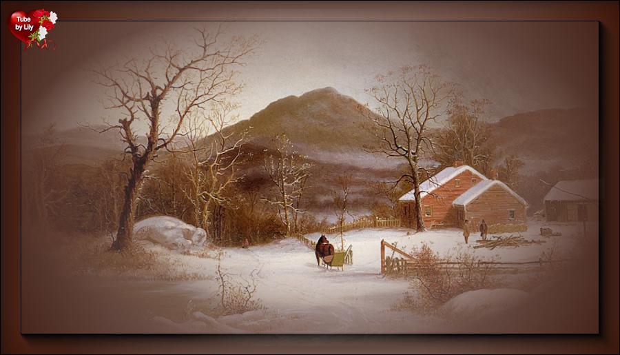 Mist paysage hiver
