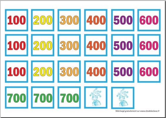 Carré infernal : compléments à 100, à 1000