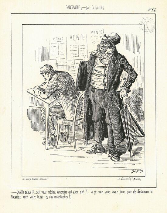 Le clerc de notaire par Barthélémy Gautier