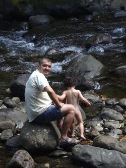 Pique nique à la rivière