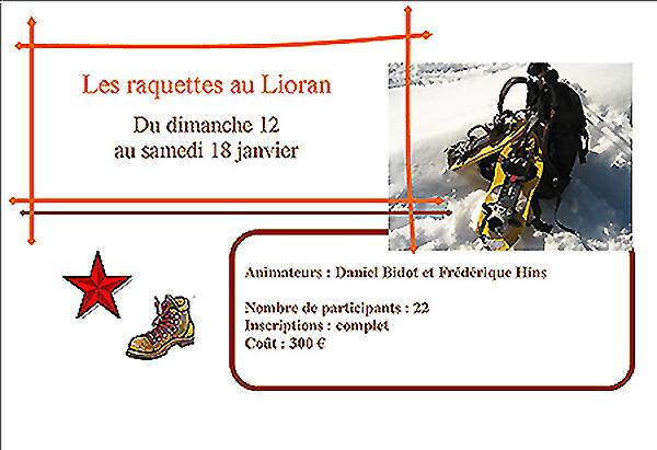 Les  Raquettes au Lioran