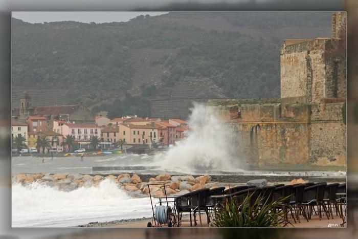 Tempête sur Collioure