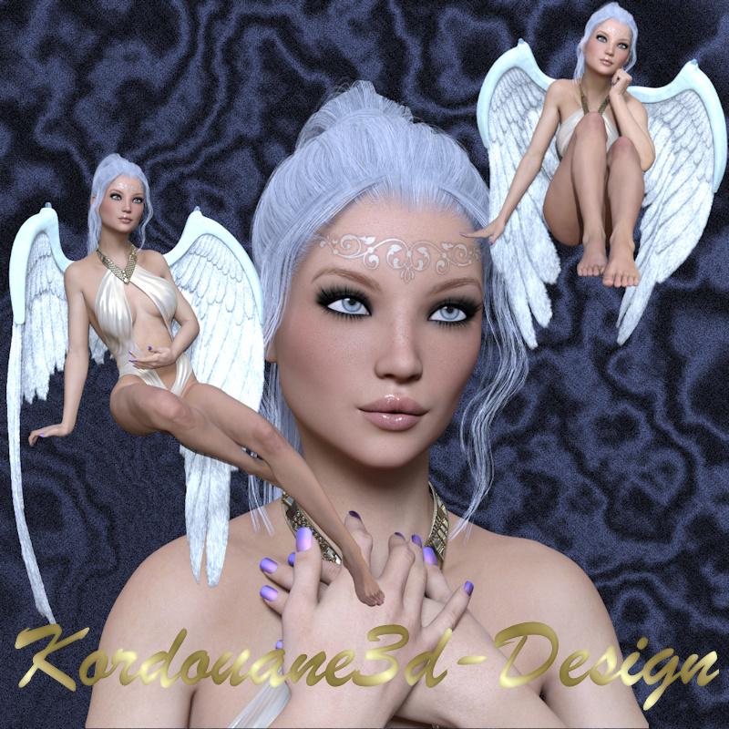 Céleste : 3 tube d'ange femme (image-png)