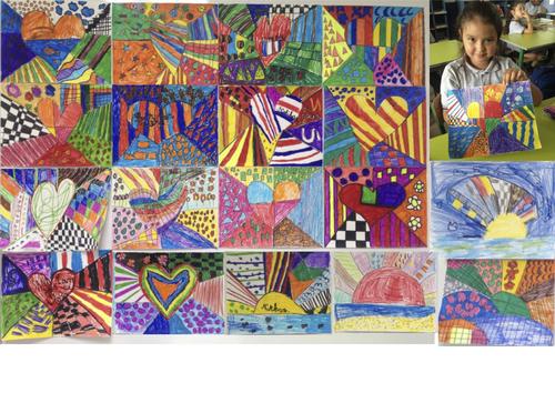 ARTS : des coeurs en couleurs !
