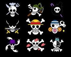 Les emblêmes de l'équipage aux chapeau de paille