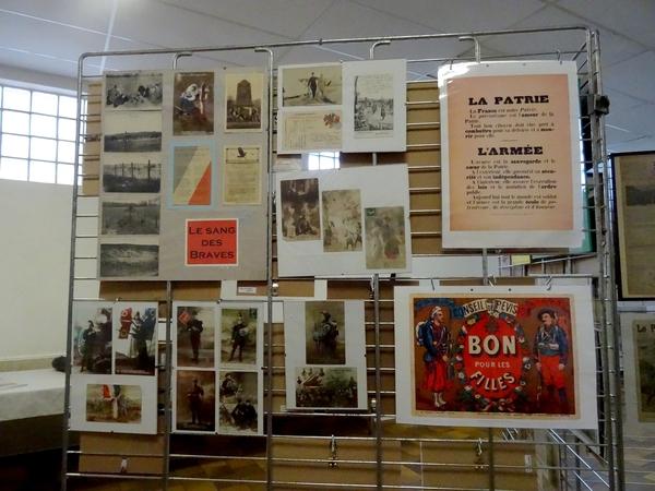 Une belle exposition sur la guerre 14-18, à voir à Cérilly encore pendant deux jours...