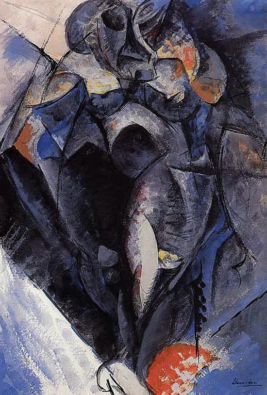 Umberto Boccioni, Figure, 1912